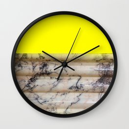 Greek Yellow Marble Wall Clock