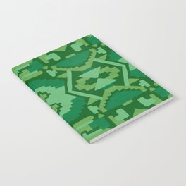 Geometric Aztec in Forest Green Notebook