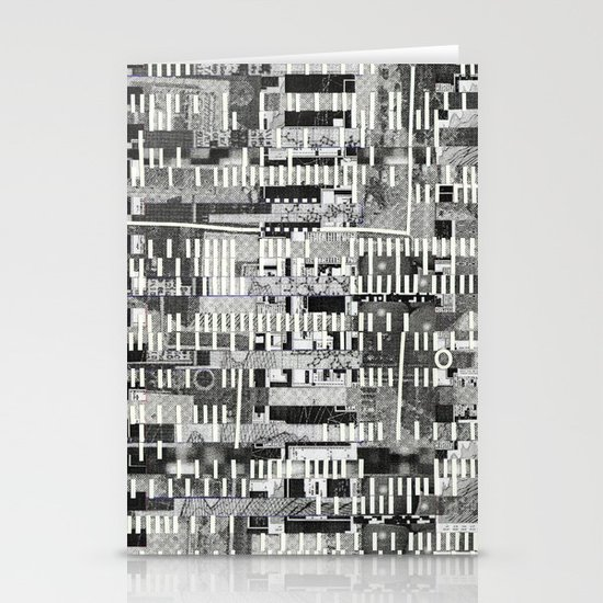 Exploiting Digital Behavior (P/D3 Glitch Collage Studies) Stationery Cards