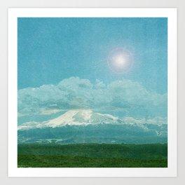 The mountains. Art Print