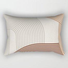 Mid Century Line Art I Rectangular Pillow