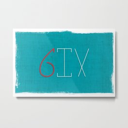 one to 10: SIX Metal Print