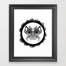 Half Hairy Angry Monkey Framed Art Print