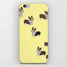 yellow corgis iPhone Skin