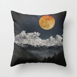 Moon Melodies Throw Pillow