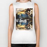 volkswagon Biker Tanks featuring Bug Life by sysneye