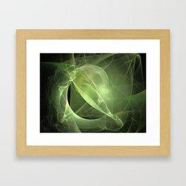 Ethereal Green Fractal Framed Art Print
