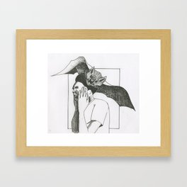Bat Attack Framed Art Print