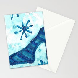 Snowflake Shoe Stationery Cards