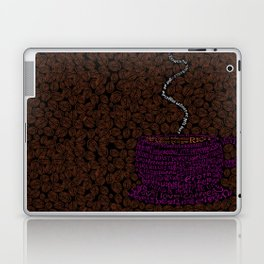 Cup O Type Typographic Coffee Cup Illustration Laptop & iPad Skin