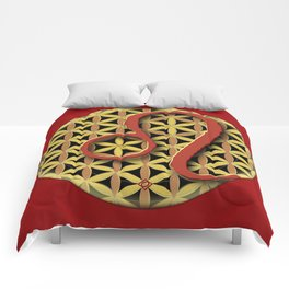 Flower of Life LEO Astrology Design Comforters