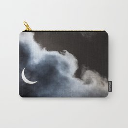 Partial solar eclipse viewed through clouds Carry-All Pouch