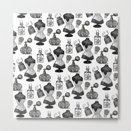 Victorian Wall Paper Metal Print