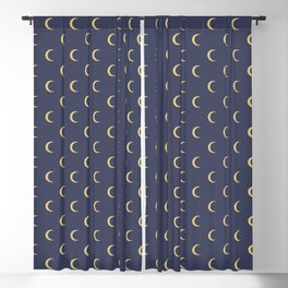 Crescent Moon Sky Pattern Blackout Curtain