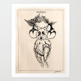 mandragora. {in sepia} Art Print