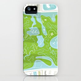 Totally Inaccurate Map of Gifford Pinchot State Park iPhone Case