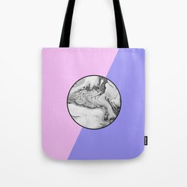 Marble Button Tote Bag