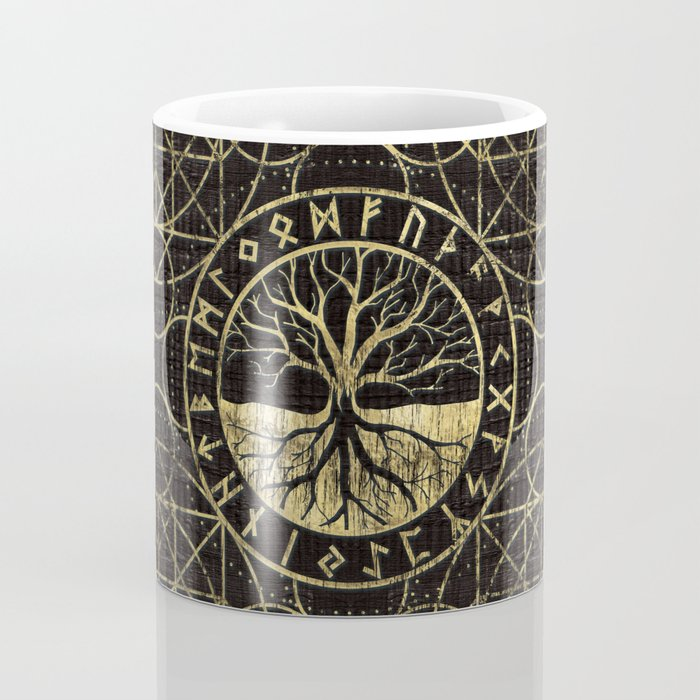 Tree of life  -Yggdrasil and  Runes Coffee Mug