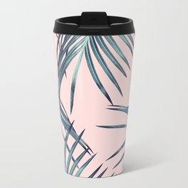 Blush Palm Leaves Dream #1 #tropical #decor #art #society6 Metal Travel Mug