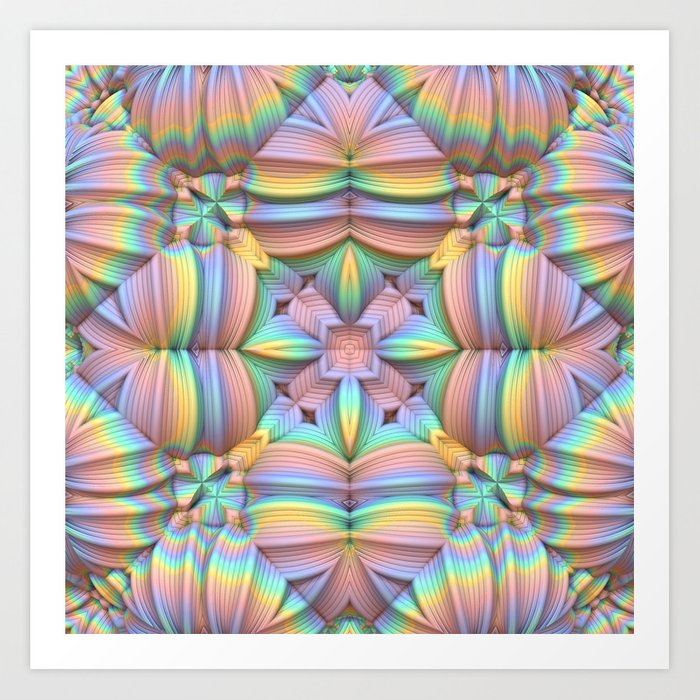 Symmetry in Pastels Art Print