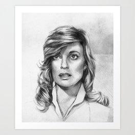 Sue Ellen Ewing Art Print