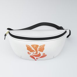 Glorious Lord Ganesha, Vintage Style Fanny Pack