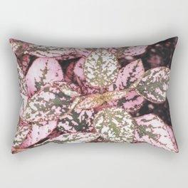 Green veined pink leaves Rectangular Pillow