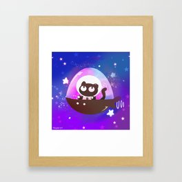 Cookie Cat Framed Art Print