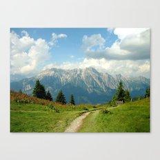 Mountain Range in Austria Canvas Print