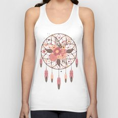 Floral Dreamcatcher Unisex Tank Top