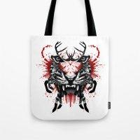 predator Tote Bags featuring Predator by Enkel Dika