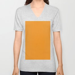 Carrot Orange Unisex V-Neck