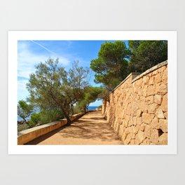 Mediterranean walkway Art Print