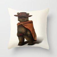 ewok Throw Pillows featuring Clint Ewok by Kirye