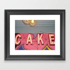Cake ~ pop carnival signage Framed Art Print
