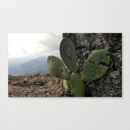 Love Cactus Canvas Print