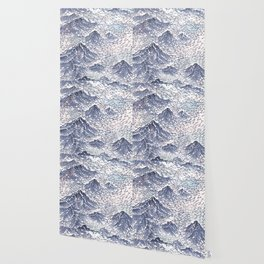 Distant View - 遠望 series -Linocut Wallpaper