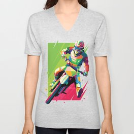 Motocross Top-notch WPAP #2 Unisex V-Neck