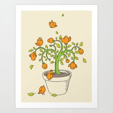 the birdie tree Art Print