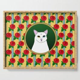Fat D. Loves Roses Serving Tray