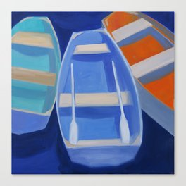 Nantucket Boats Canvas Print