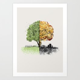War and Peace Art Print