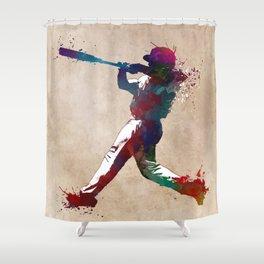 Baseball player 10 #baseball #sport Shower Curtain