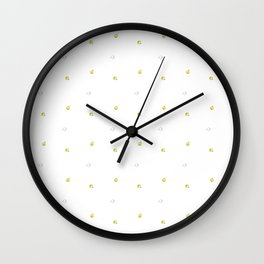 Quince Pattern Wall Clock
