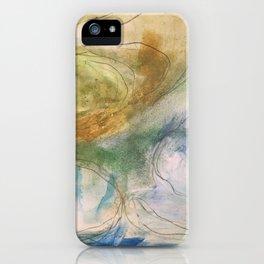 ocean swirls iPhone Case