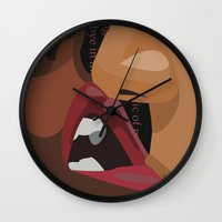 erotic Wall Clocks featuring Erotic by Corijaye