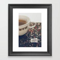 listen to your tea II Framed Art Print