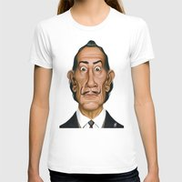 salvador dali T-shirts featuring Celebrity Sunday ~ Salvador Dali by rob art | illustration