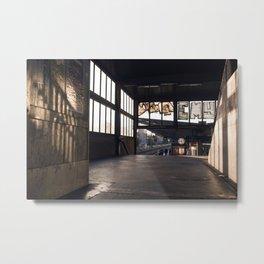 suburban railway station Metal Print
