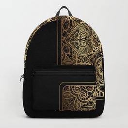 Ornament Gold Playing Card Backpack
